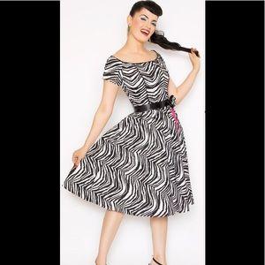Bernie Dexter Zebra Print Dress